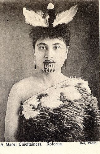 maori princess with moko - chin tattoo | by sweetpea11215 | Maori tattoo,  Maori, Maori people