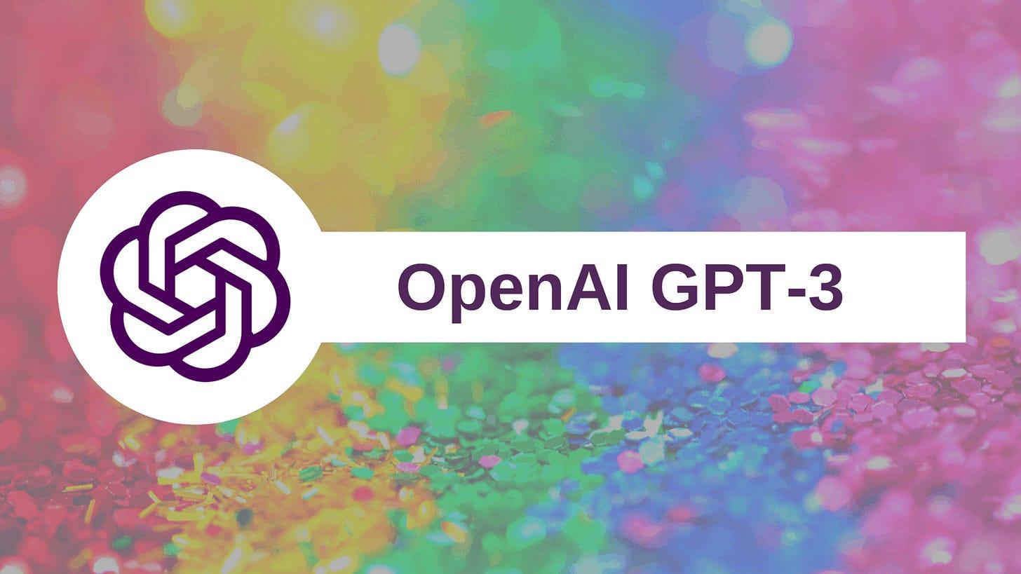 Imagem com o o logo da OpenAI GPT-3
