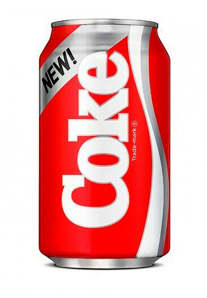 picture of a New Coke can