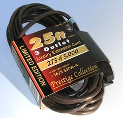 A rare 2001 extension cord with a limited run of 5,000. Its value is estimated at $750.