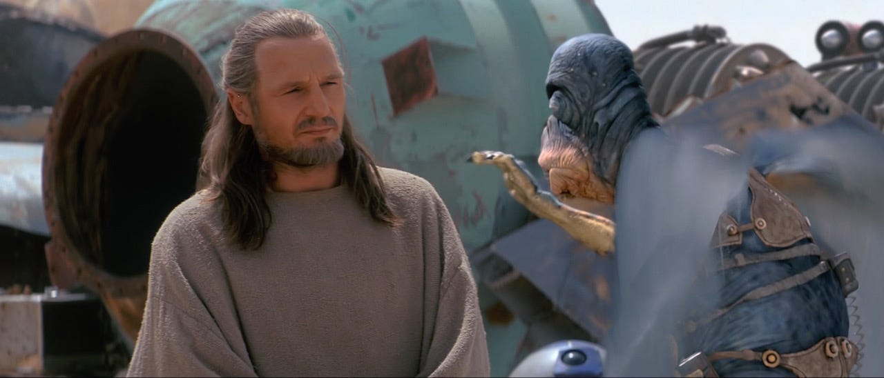 Qui-Gon with Watto from Star Wars: The Phantom Menace
