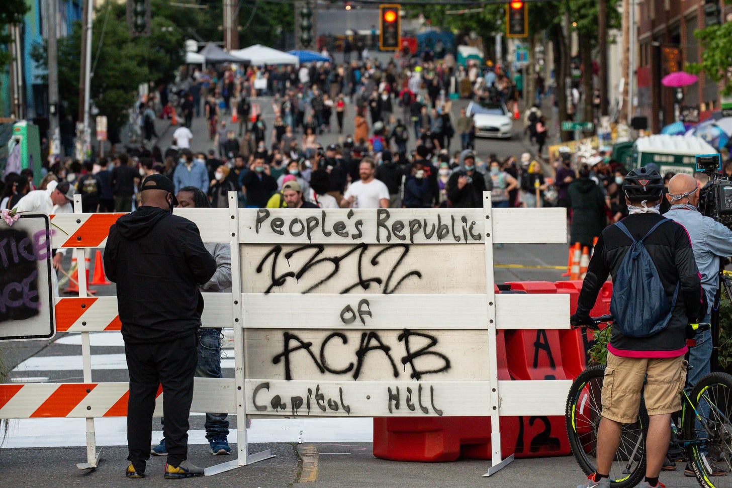 Seattle's Capitol Hill Autonomous Zone, Where Protesters Have Taken Control  of the Streets