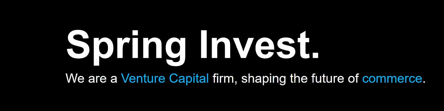 Spring Invest - Shaping the future of commerce