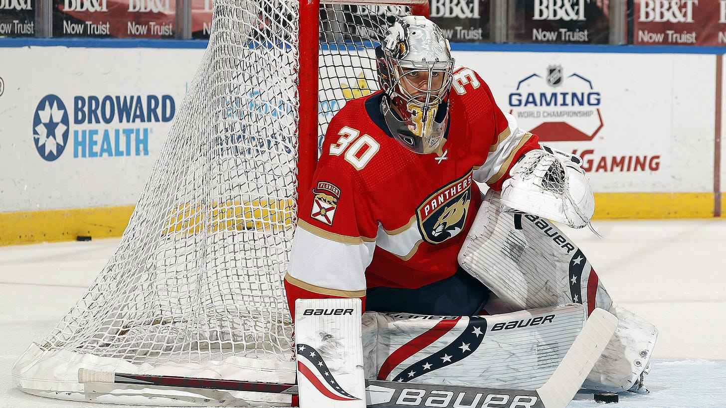 Spencer Knight the latest top college goalie to get an NHL debut