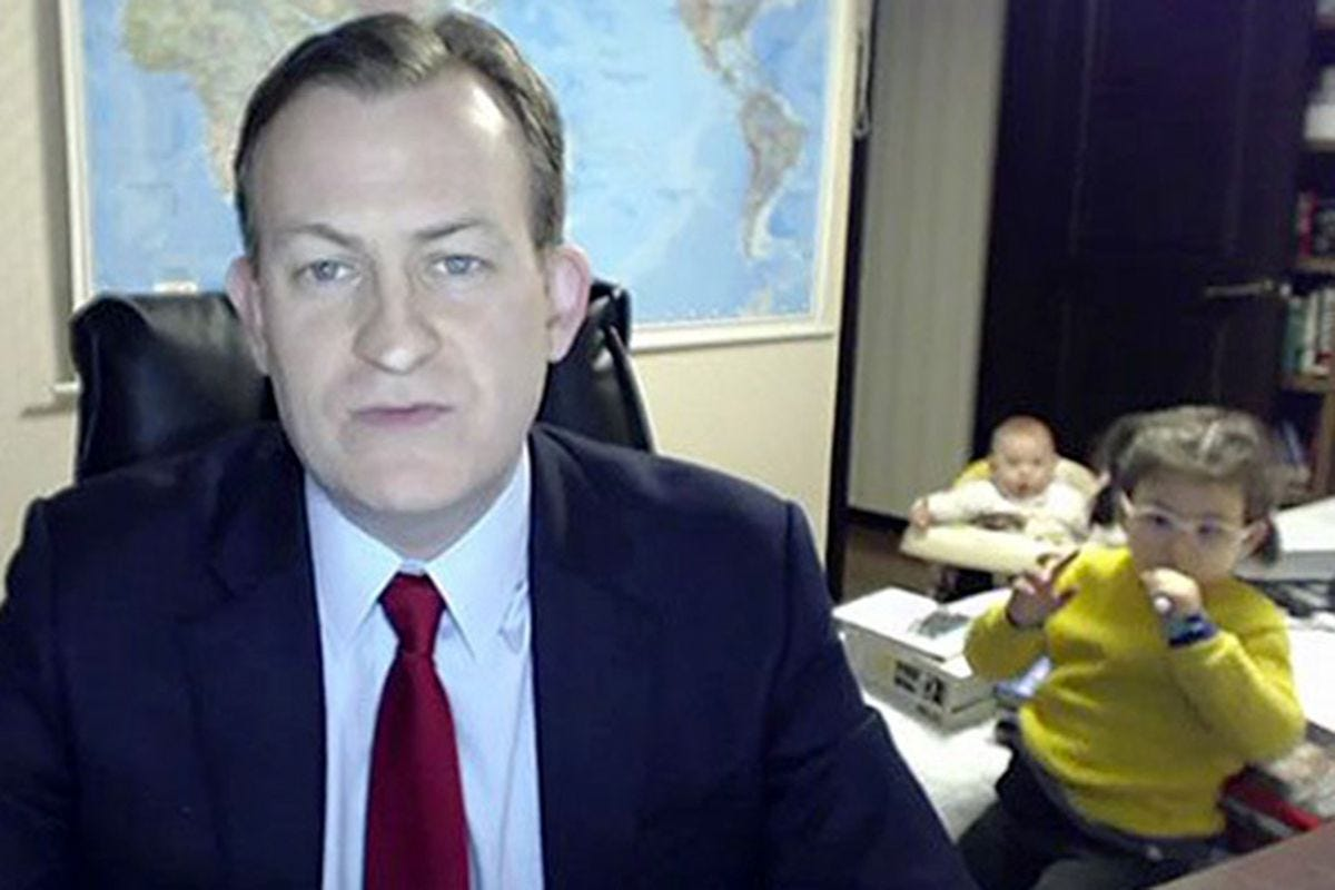 BBC Dad, the OG of interrupted work-from-home calls, is back with the kids  - The Verge