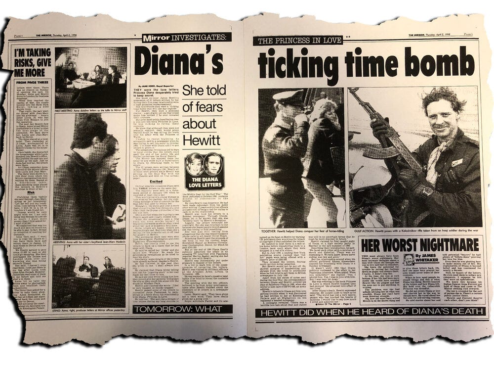 Morality or cover up? How the Mirror reported on Diana letters