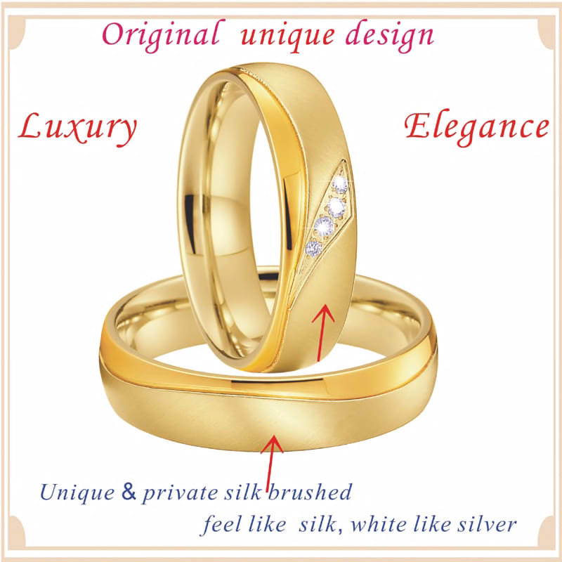 2088924866 2020 New Marriage Alliances Love Couple Wedding Rings Set For Men And Women Gold Color Proposal Titanium Stainless Steel Jewelry Jewelry Accessories Fashion Jewelry