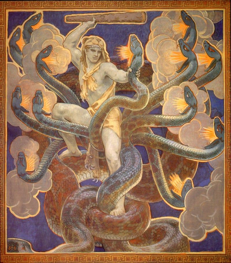 Lernaean Hydra by John Singer Sargent