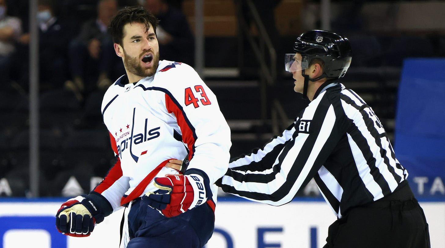 Tom Wilson starts huge fight in Capitals' game against Rangers