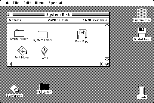 蘋果早期模仿真實事物的介面,可以說是電腦領域的加州卷。