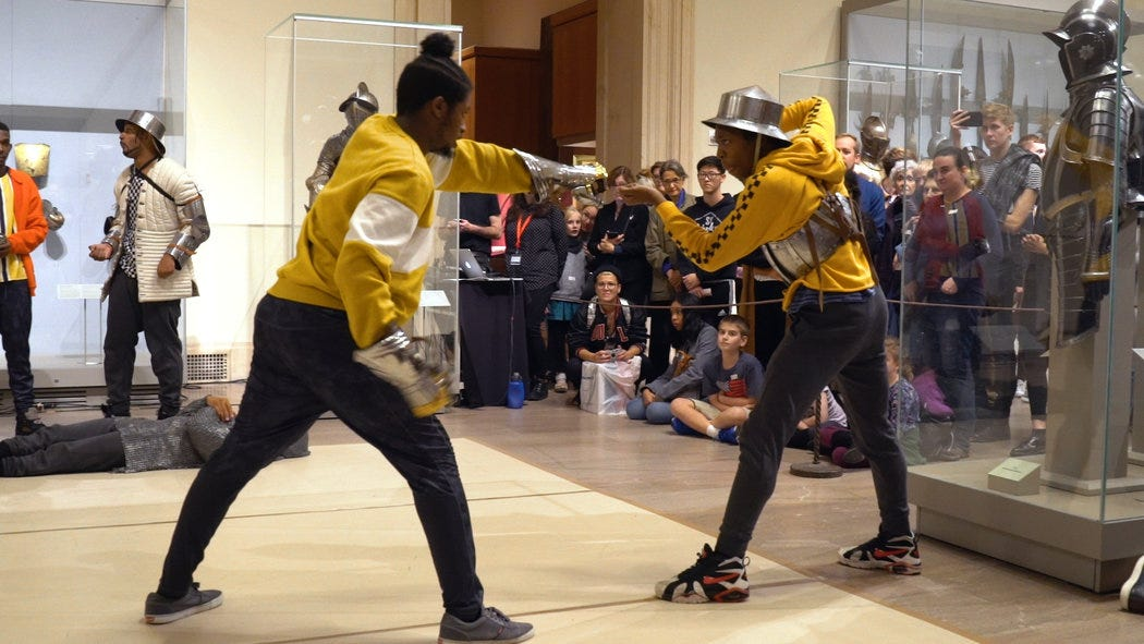 Subway Break Dancers, Clad in Armor, Go Medieval at the Met Museum - The  New York Times