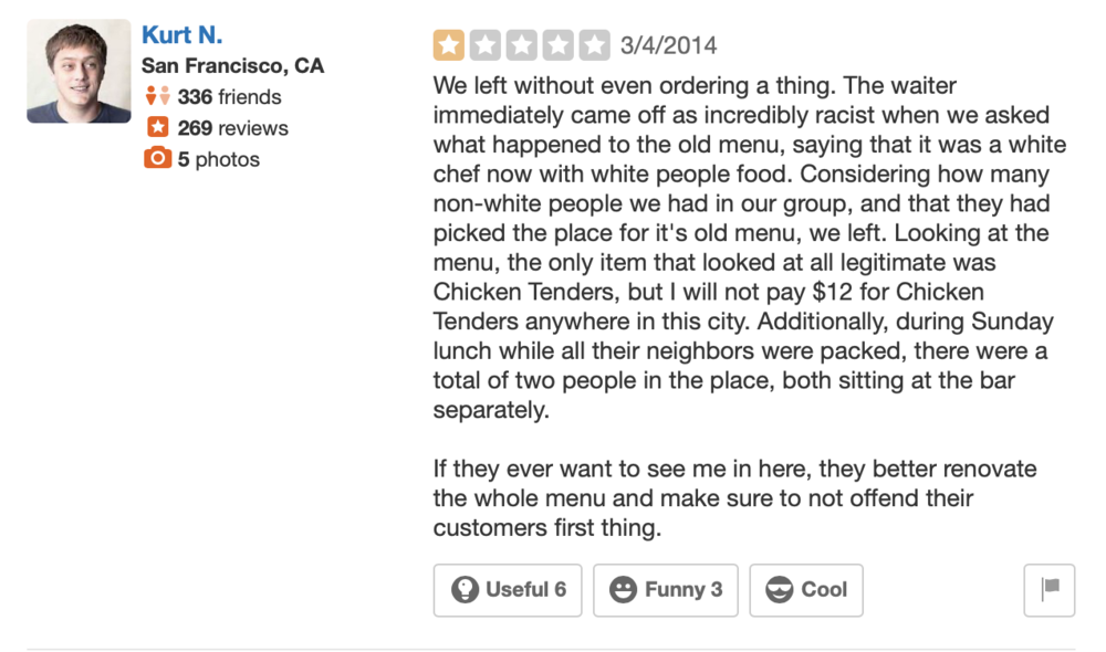 From Ten Atlanta's Yelp Page