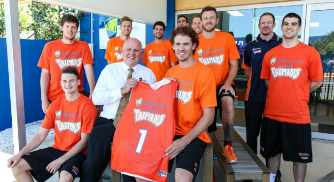 The new look CQ University Cairns Taipans Photo Credit: Cairns Taipans