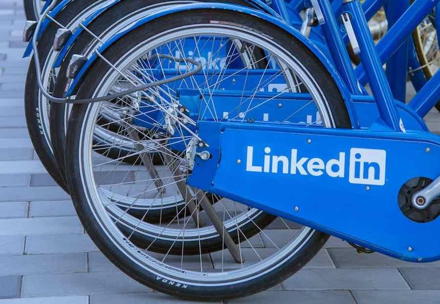 Bikes on LinkedIn campus