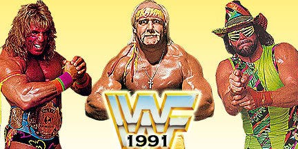 WWF 1991 Hulk Hogan Mahco Man Randy Savage Ultimate Warrior ...