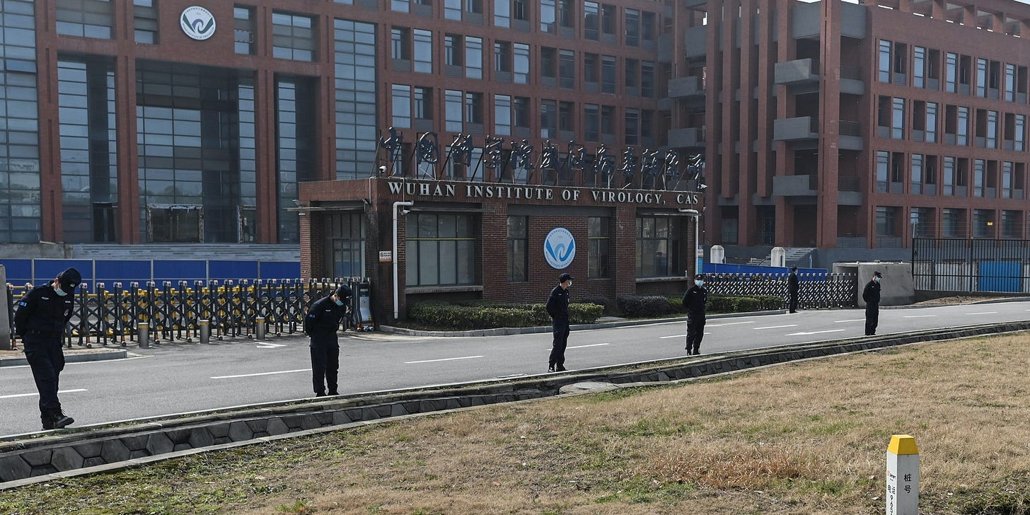 This general view shows the Wuhan Institute of Virology in Wuhan, in China's central Hubei province on February 3, 2021, as members of the World Health Organization (WHO) team investigating the origins of the COVID-19 coronavirus, visit. (Photo by Hector RETAMAL / AFP) (Photo by HECTOR RETAMAL/AFP via Getty Images)