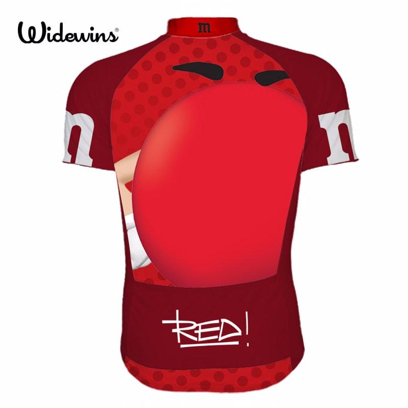 M&M Cartoon funny Cycling jersey short sleeve summer Wear Mtb Road pro team brand cycling Jersey Ropa ciclismo maillot 6503