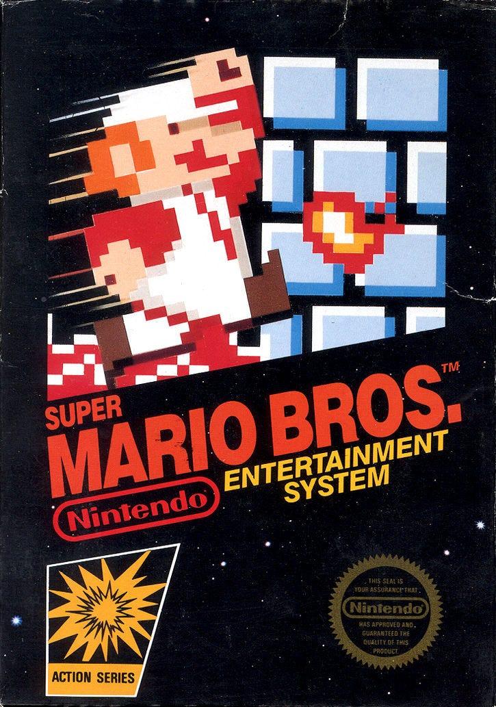 Super Mario Bros. NES Front Cover