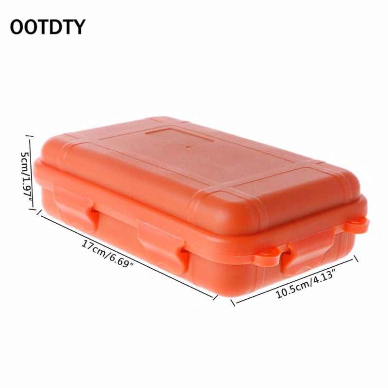 Outdoor Shockproof Waterproof Tool Box Airtight Case EDC Travel Sealed Container