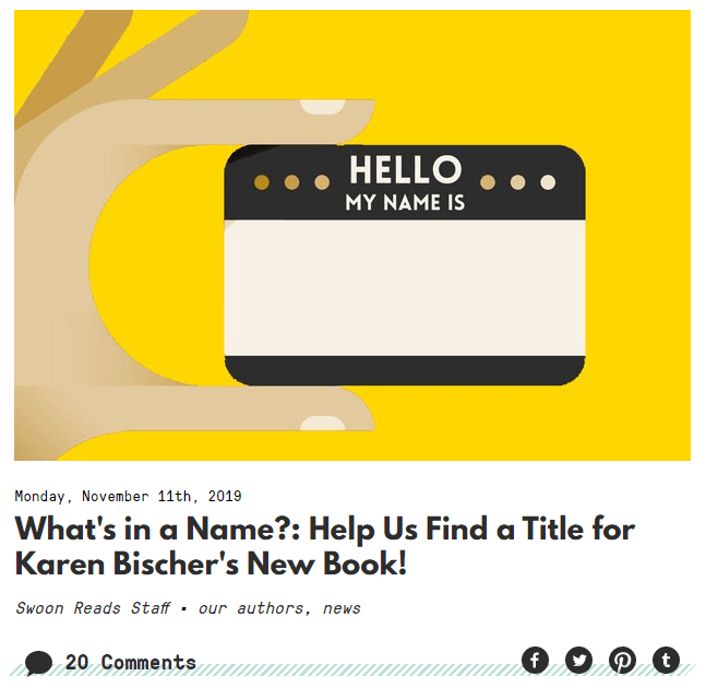 An illustration of a hand holding a name tag over a yellow background
