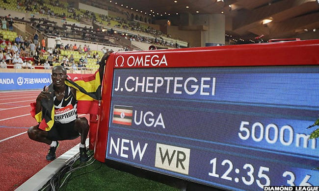 Tonight, Cheptegei Goes For 10,000m World Record