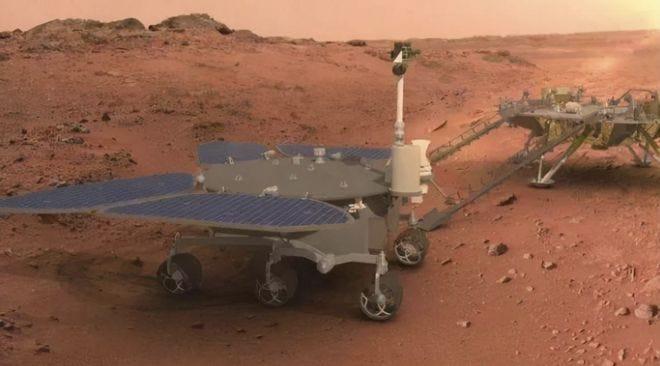 骄傲!祝融号成功着陆五星红旗闪耀火星 庞之浩 探测器 着陆器_网易科技