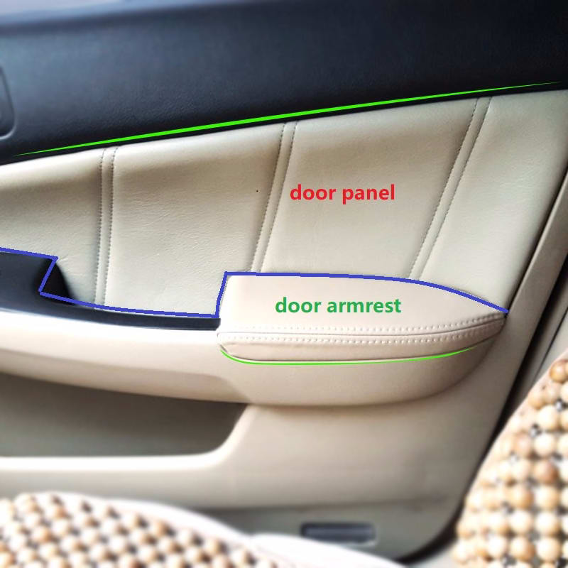 For Honda Accord 7th Gen 2003 2004 2005 2006 2007 4pcs Microfiber Leather Interior Door Armrest Panel Cover Protection Trim