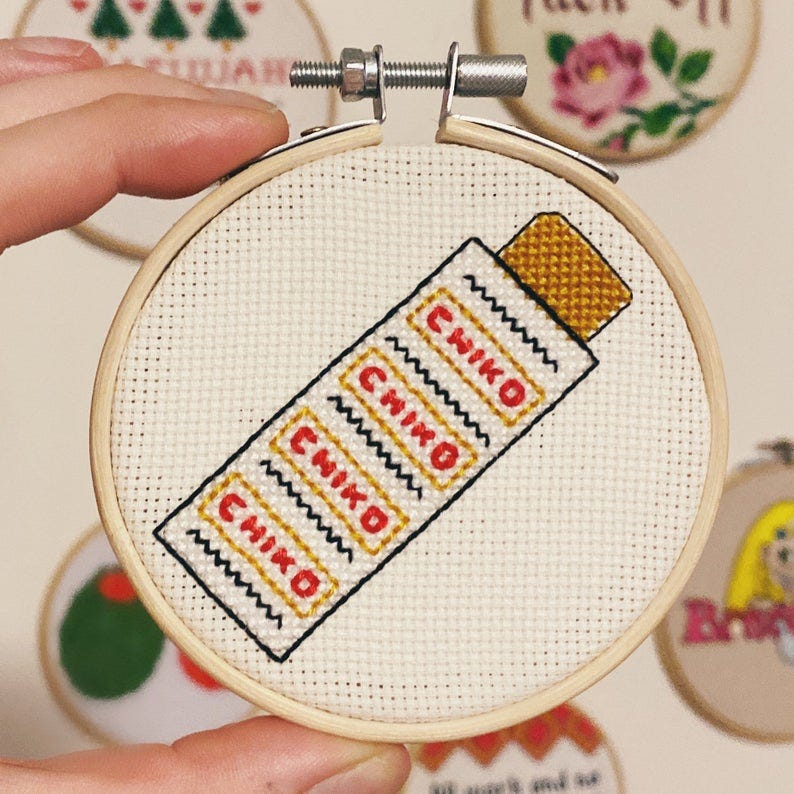 mini 3 chiko roll Aussie cross stitch image 0