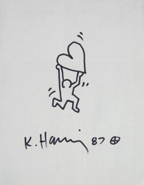 Keith Haring | Dancing Man with Radiant Heart (1987) | Artsy