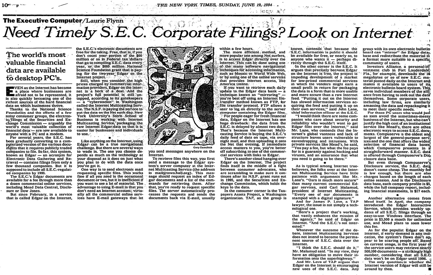 Article from NY Times describing the information available on the internet.