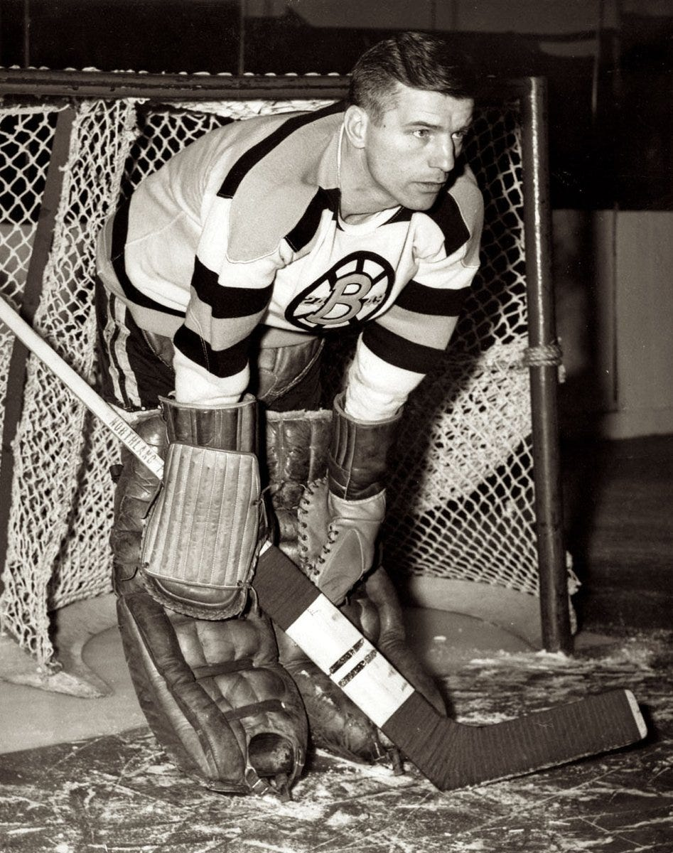 """Dave Stubbs 🇨🇦 on Twitter: """"1/2 This Dec. 1 in 1938: @NHLBruins icon Frank  Brimsek plays his 1st NHL game, losing 2-0 to @CanadiensMTL. But 1938-39  Calder Trophy winner as NHL's top"""
