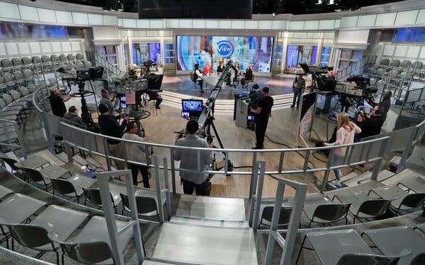 """""""The View"""" taped without a studio audience on Wednesday because of concerns over the coronavirus."""