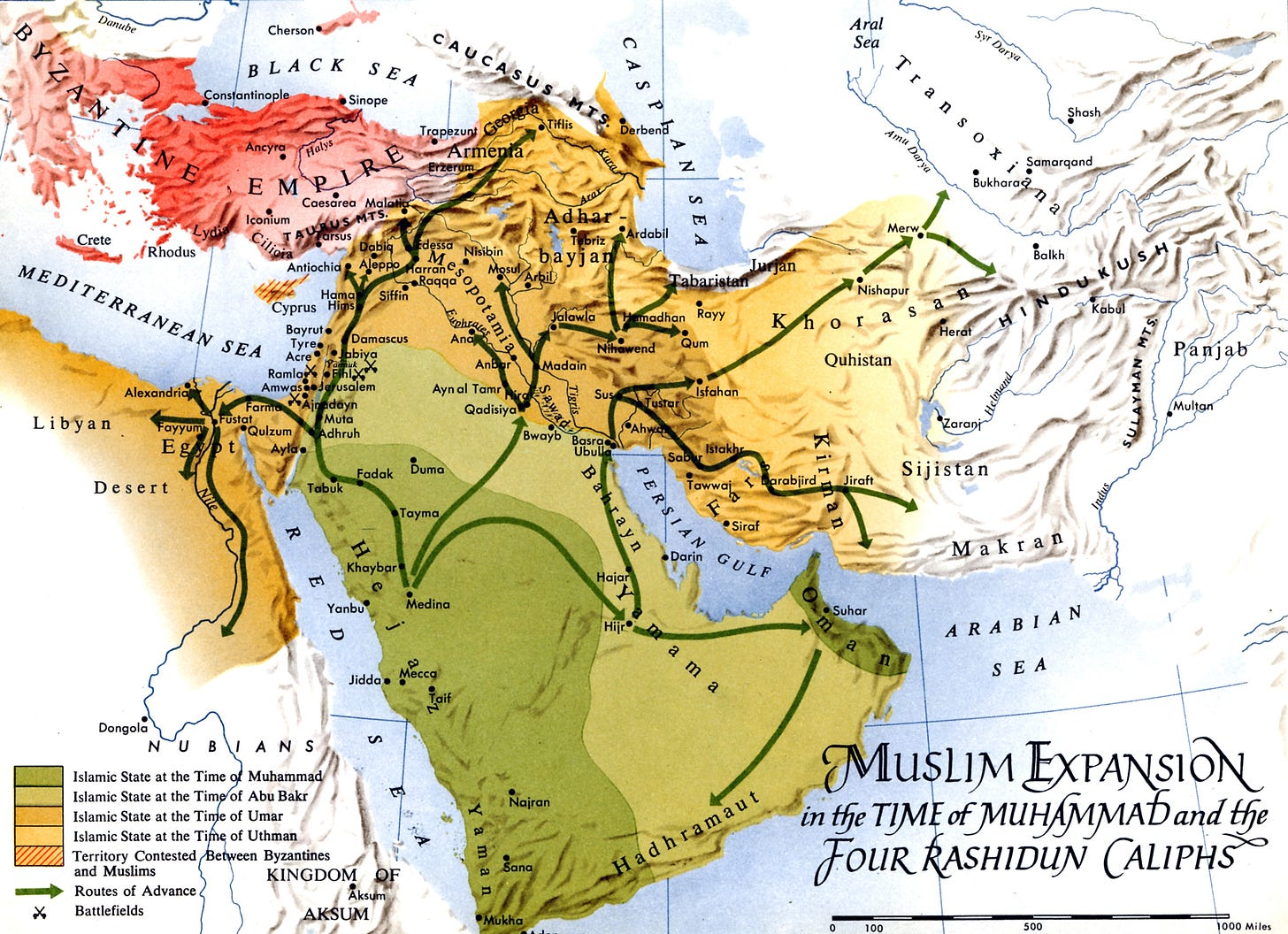 Map - Expansion Muhammad & Rashidun