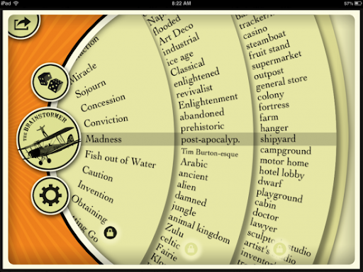 The Brainstormer – Spin a Wheel of Story Starters