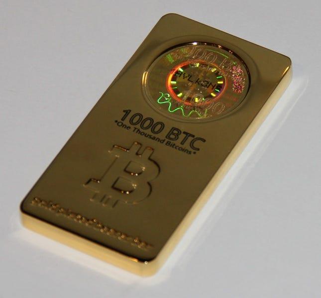 1000 BTC gold bar