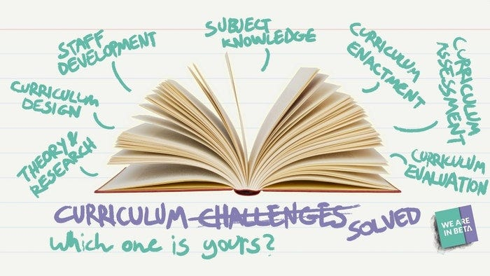 Curriculum Thinkers: which of these challenges are you most interested in?