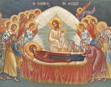 Icon of the Dormition of the Mother of God – F87 | Skete.com