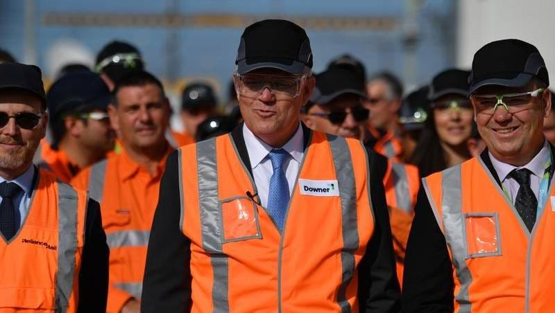 Hi-vis Morrison spruiks infrastructure | Illawarra Mercury ...