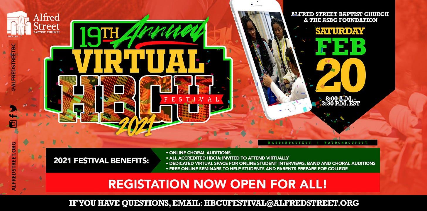 2021 HBCU Festival - Alfred Street Baptist Church