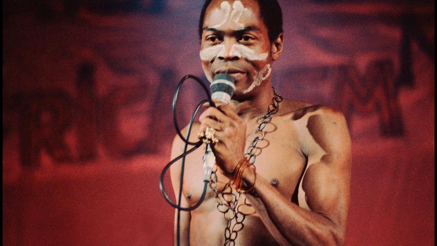 Image may contain Fela Kuti Skin Human and Person