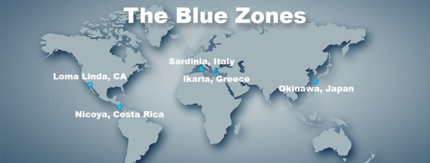 Blue zones, image from https://www.lottaveg.com/the-blue-zones-book-review/