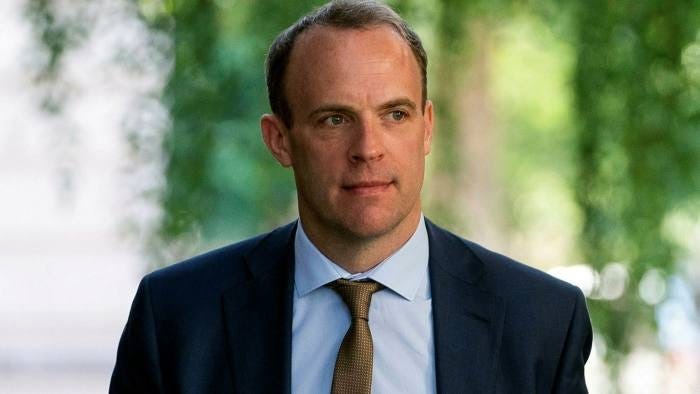 Dominic Raab under fire over taking the knee comments   Financial Times