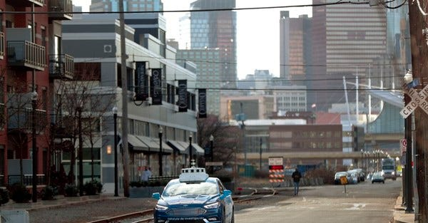 The slow start for self-driving cars and urban planning.