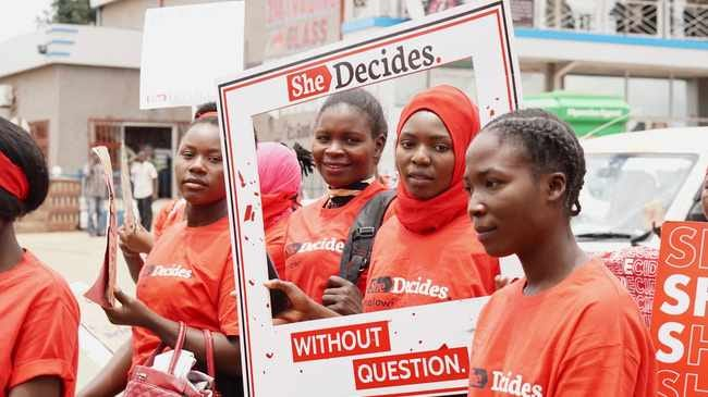 Young activists at the 'She Decides' march against sexual violence in Lilongwe, Malawi. File picture: Alice McCool/Thomson Reuters Foundation