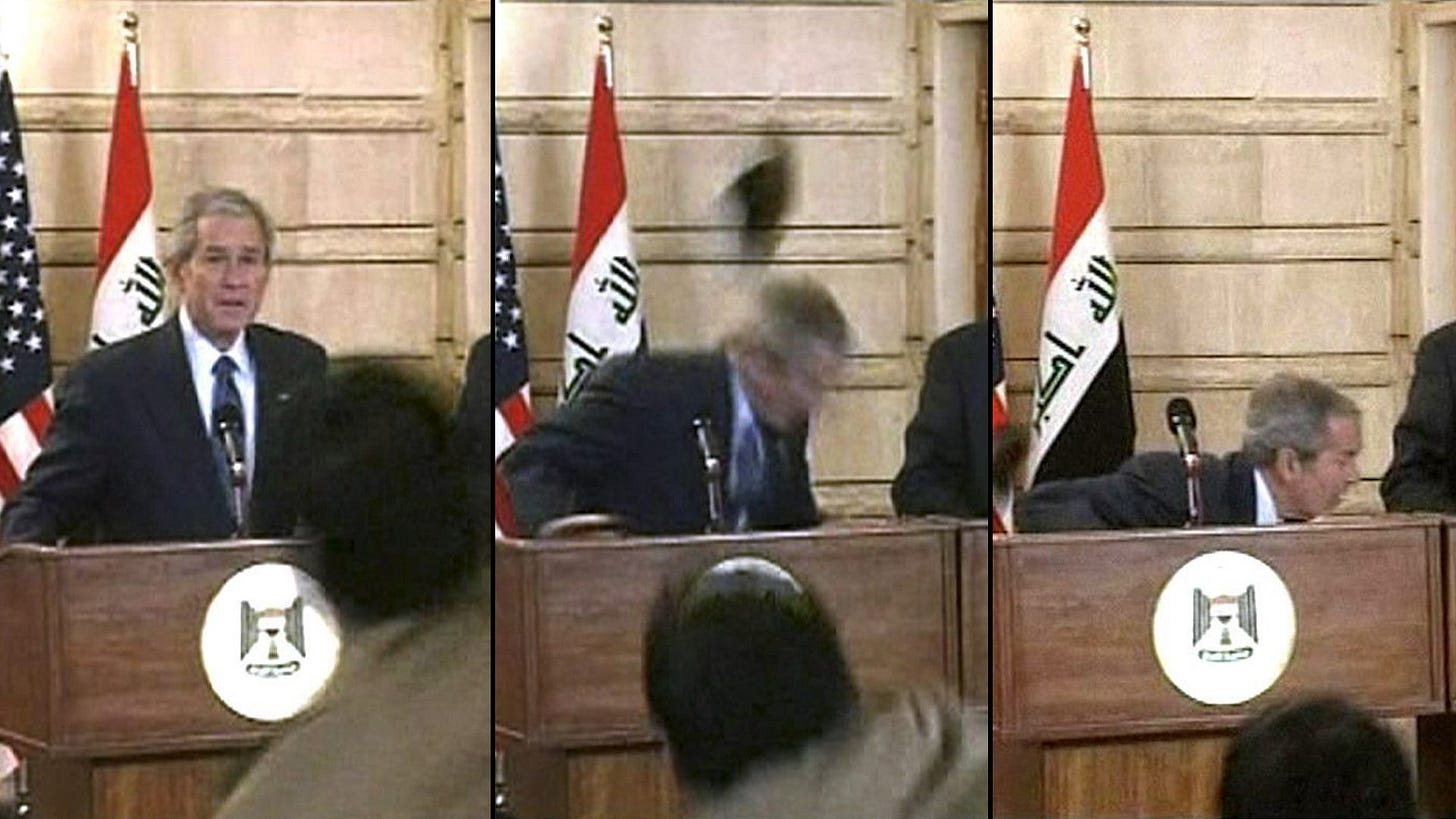 Man who threw shoe at George W. Bush is running for Iraqi parliament -  National | Globalnews.ca