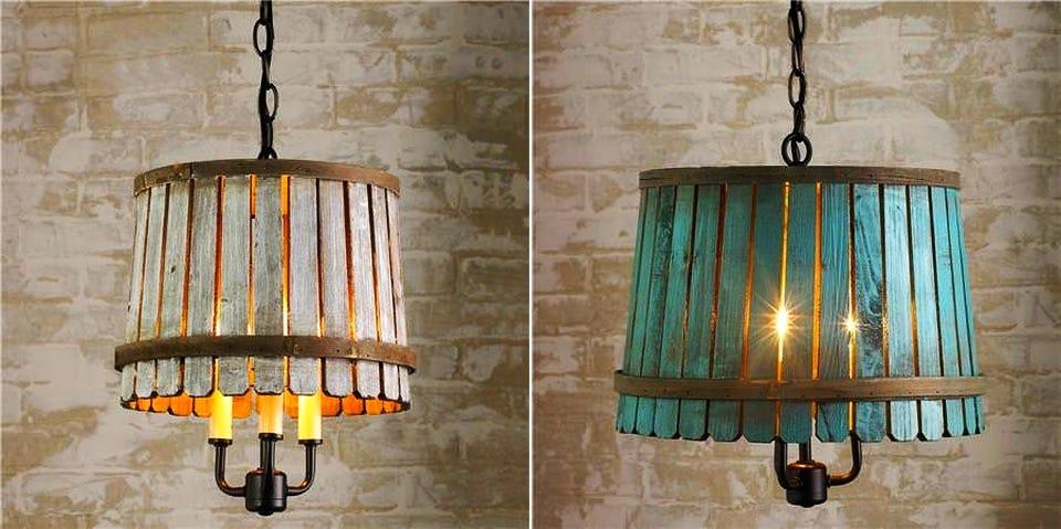 Image result for lamp bushel basket