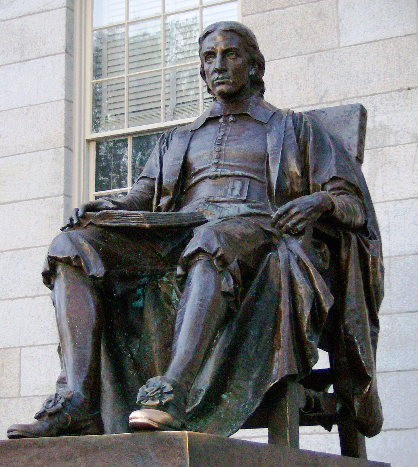 Statue of John Harvard - Wikipedia