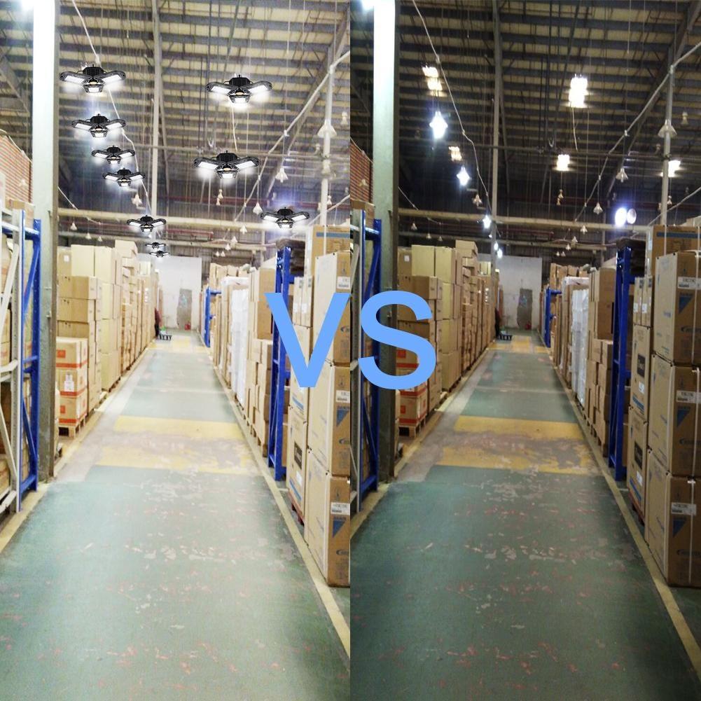 Adjustable Garage Lamp 80W//8000LM LED  Three Light Workshop Parking Warehouse