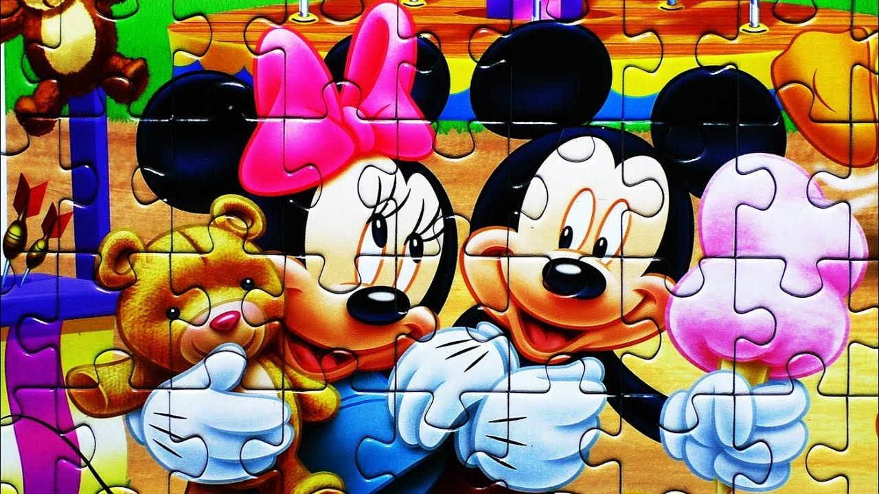 Kids Disney Puzzle MICKEY MOUSE Games Rompecabezas Play Jigsaw Puzzles De  Learning Activities Toys - YouTube
