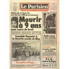 PARISIEN LIBERE (LE) N° 12071 DU 11/07/1983 - TOUFIK OUANES - 9 ...